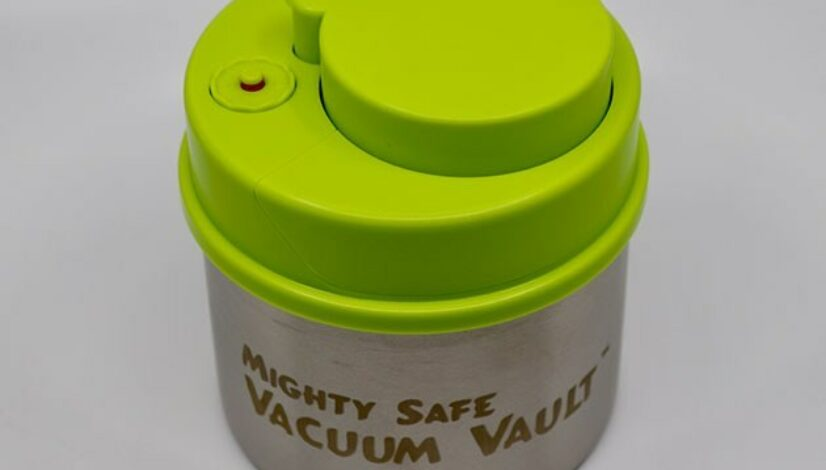 The Mighty Safe Vacuum Vault keeps your herbs and edibles fresh for up to 15 days
